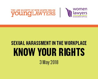 Know your rights sexual harassment at work