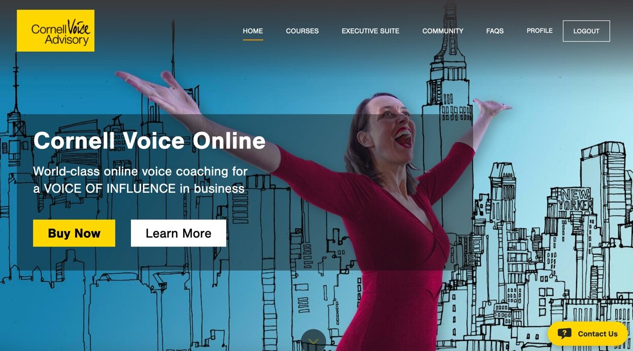 Get 10% off the FULL PRICE of the CORNELL VOICE MASTERCLASS – a world-class online training course for a VOICE OF INFLUENCE!