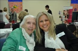 Janet Coombs (L) pictured with Rhafae Millington at the IWD Breakfast hosted by Mosman Council 12 March 2012