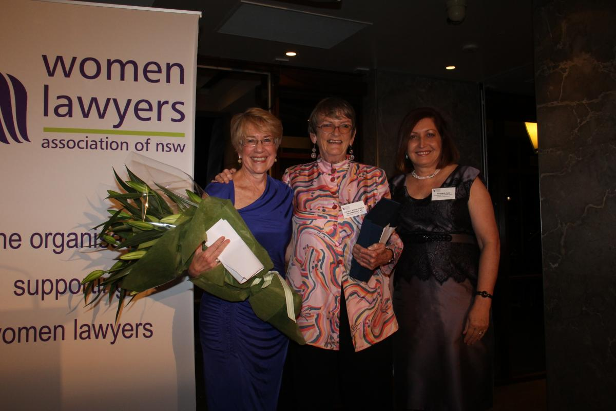 Justice Beazley with WLANSW Patron Justice Mathews and WLANSW President Margaret Holz